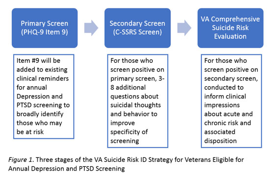 3 stages of suicide risk identification